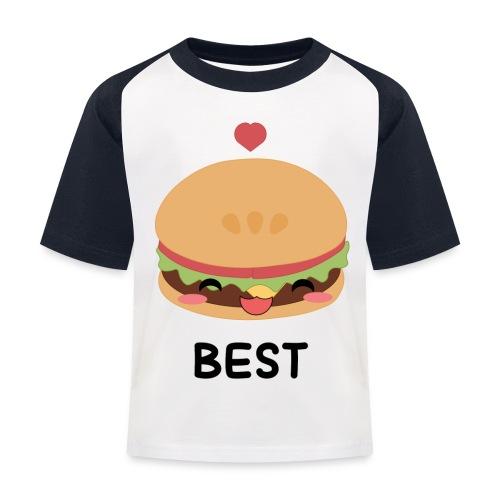 hamburger - Maglietta da baseball per bambini