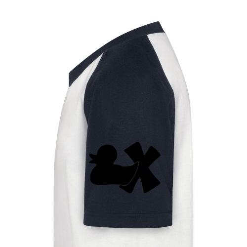 Ente mit X v3 3 klein - Kinder Baseball T-Shirt