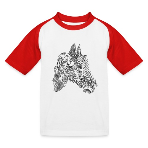 Blumenpferd transp png - Kinder Baseball T-Shirt