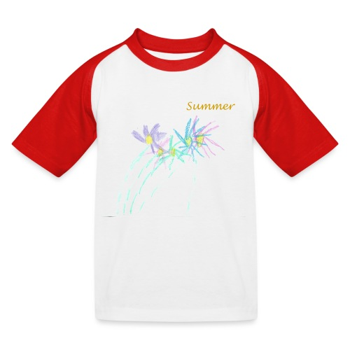 Summer daises - Kids' Baseball T-Shirt