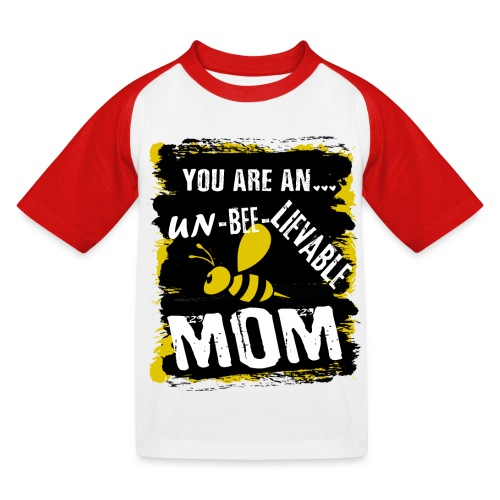 you are an... un-BEE-Lievable mom - Kinder Baseball T-Shirt