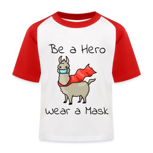 Sei ein Held, trag eine Maske! - Kinder Baseball T-Shirt