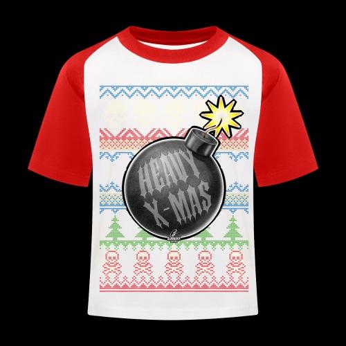 Heavy X-Mas Christbaumkugel-Bombe - Kinder Baseball T-Shirt