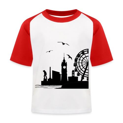 Silhouette of Margate - Kids' Baseball T-Shirt