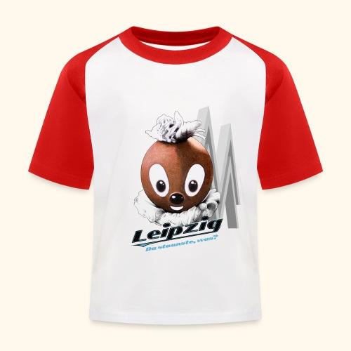 Pittiplatsch 3D Leipzig auf hell - Kinder Baseball T-Shirt