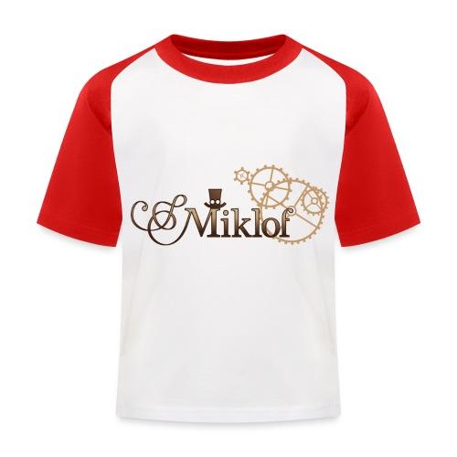 miklof logo gold wood gradient 3000px - Kids' Baseball T-Shirt