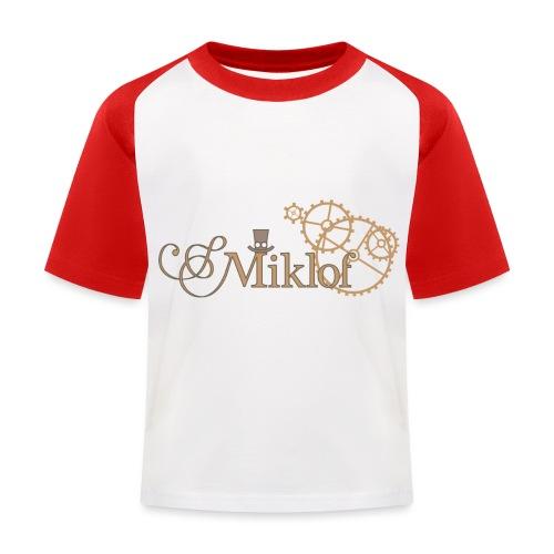 miklof logo gold outlined 3000px - Kids' Baseball T-Shirt