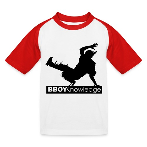 Bboy knowledge noir & blanc - T-shirt baseball Enfant