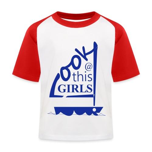 AndriesBik look thisGIRLS shirt witteletters - Kinderen baseball T-shirt
