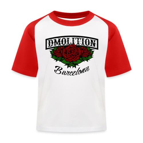 DMolition roses logo png - Camiseta béisbol niño