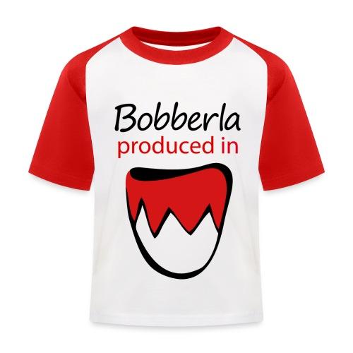 1 bobberla weiss - Kinder Baseball T-Shirt