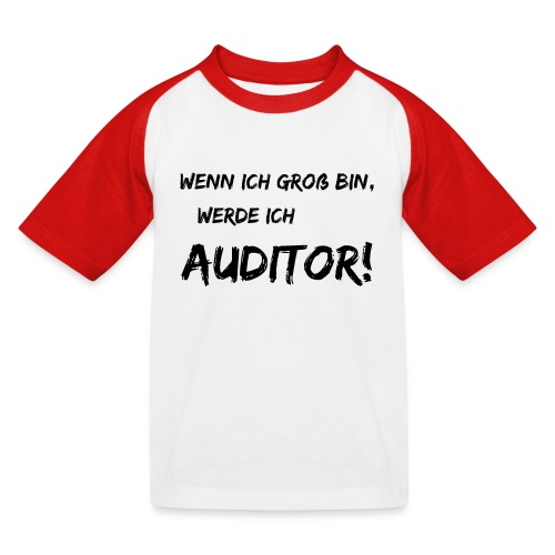 wenn ich gross bin... auditor black - Kinder Baseball T-Shirt