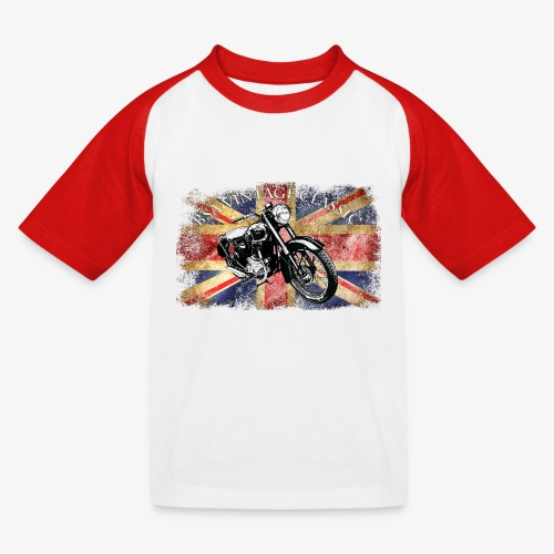 Vintage famous Brittish BSA motorcycle icon - Kids' Baseball T-Shirt