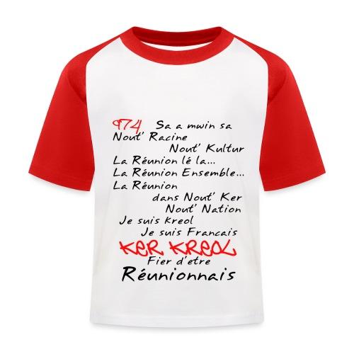 Kosement 974 ker kreol - T-shirt baseball Enfant