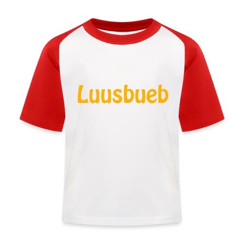 Luusbueb Schwiizertüütsch Mundart - Kinder Baseball T-Shirt