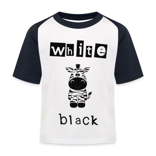Zebra black or white - Kinder Baseball T-Shirt