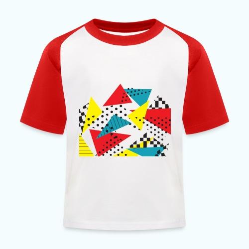 Abstract vintage collage - Kids' Baseball T-Shirt