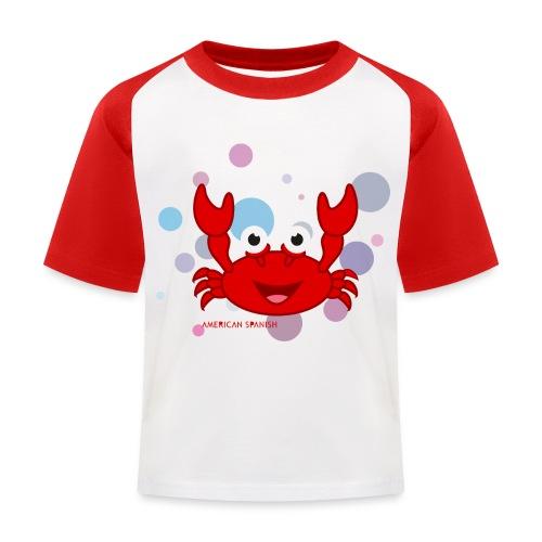 American spanish cangrejo - Camiseta béisbol niño