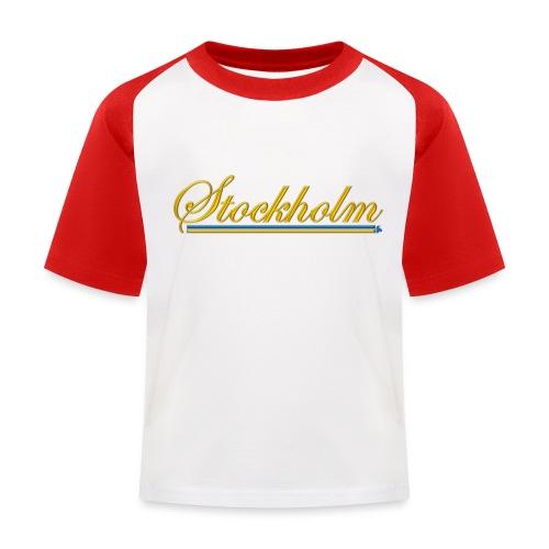 Stockholm - Baseboll-T-shirt barn