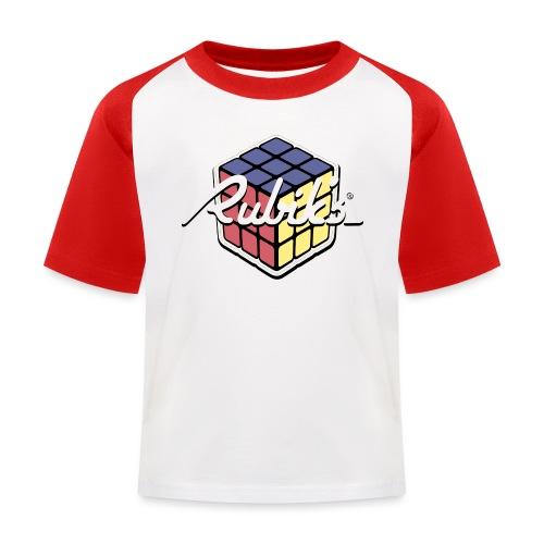 Rubik's Cube Retro Style - Kids' Baseball T-Shirt