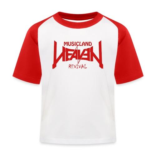 t shirt red weiss gif - Kinder Baseball T-Shirt