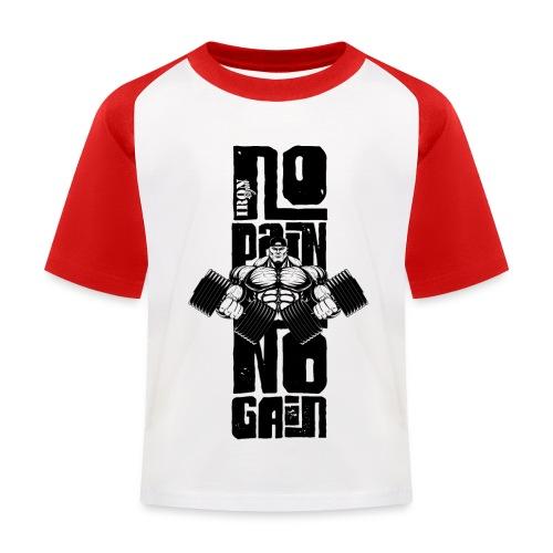 No Pain Logo Black (Stencil Version) - Camiseta béisbol niño