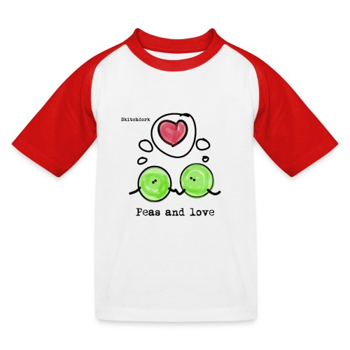 Peas and love with logo Transparent - Baseball-T-skjorte for barn