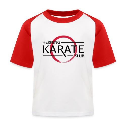 HKK Sort - Baseball T-shirt til børn