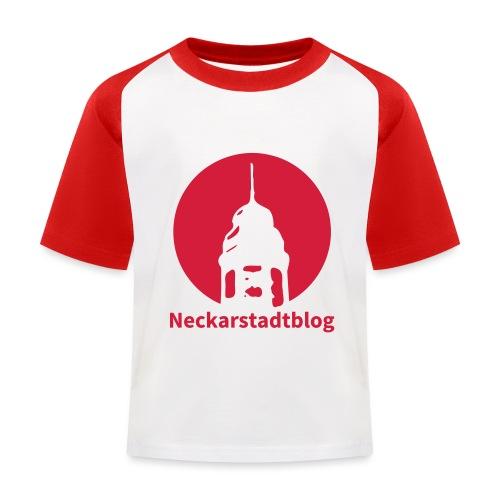 Logo mit Schriftzug inv. (Alternative Farben) - Kinder Baseball T-Shirt