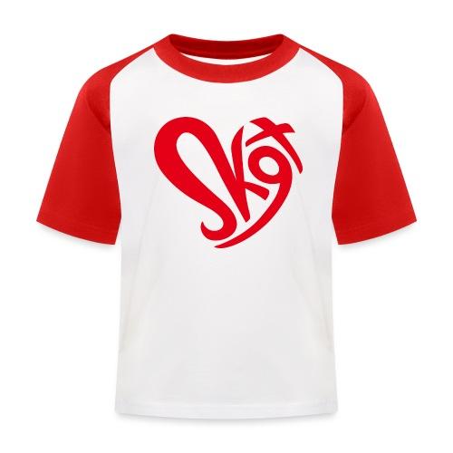 Salzkammergut Herz rot - Kinder Baseball T-Shirt