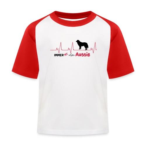 Pulslinie Immer mit meinem Aussie - Kinder Baseball T-Shirt