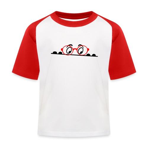 Augen, comic - Kinder Baseball T-Shirt