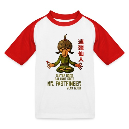 Mr. Fastfinger - cartoon guitar hero - Kids' Baseball T-Shirt
