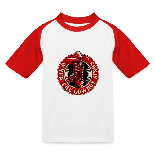 Logo when the cowboy sings - Camiseta béisbol niño