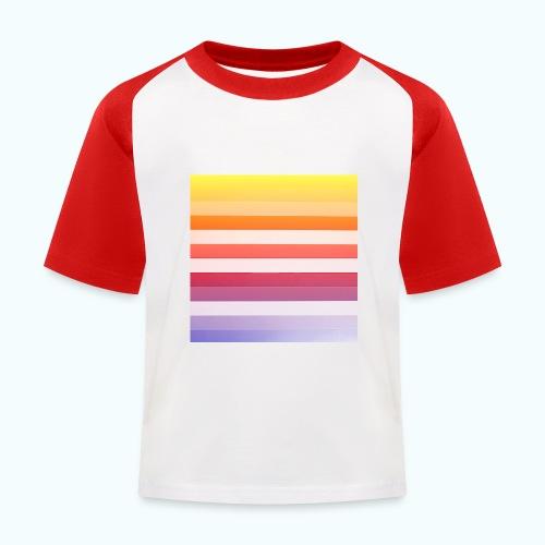 Rainbow Abstract Acrylic Painting - Kids' Baseball T-Shirt