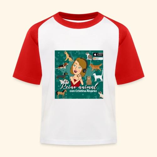 reino animal 01 - Camiseta béisbol niño