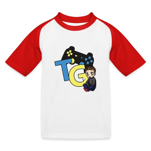 logo kanału z M@tisem - Koszulka bejsbolowa dziecięca
