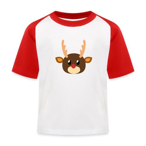 Rentier »Rudy« - Kids' Baseball T-Shirt