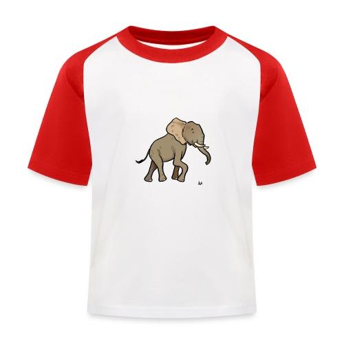 Afrikanischer Elefant - Kinder Baseball T-Shirt