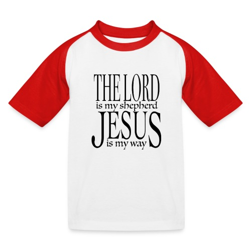 The Lord is my shepherd - Baseboll-T-shirt barn