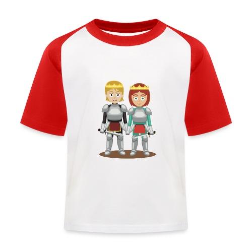 Prinzessin und Prinz mit Schwert - Kinder Baseball T-Shirt