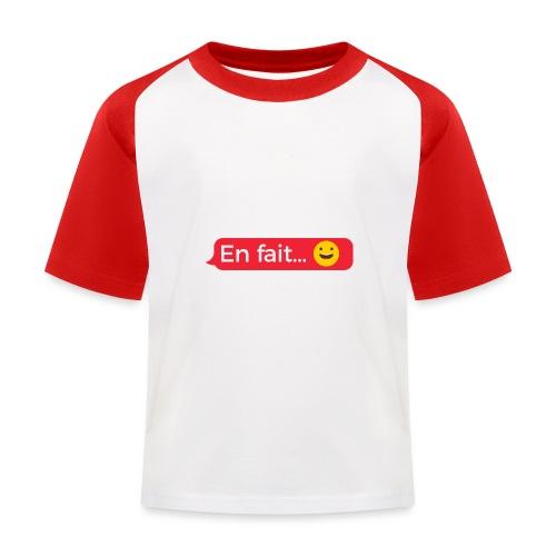 En fait - T-shirt baseball Enfant
