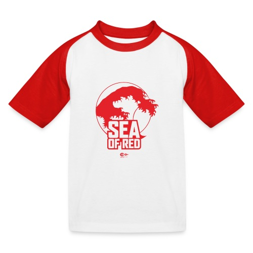 Sea of red logo - red - Kids' Baseball T-Shirt