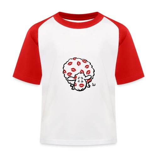 Kuss Mutterschaf - Kinder Baseball T-Shirt