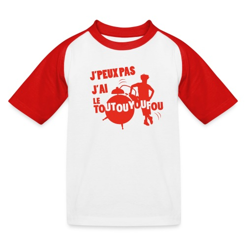 JPEUXPAS ROUGE - T-shirt baseball Enfant