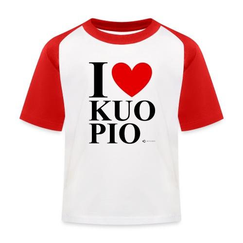 I LOVE KUOPIO ORIGINAL (musta) - Lasten pesäpallo  -t-paita