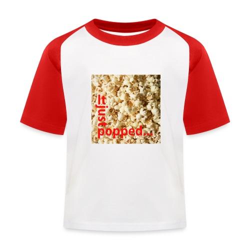 Popcorn - Baseboll-T-shirt barn