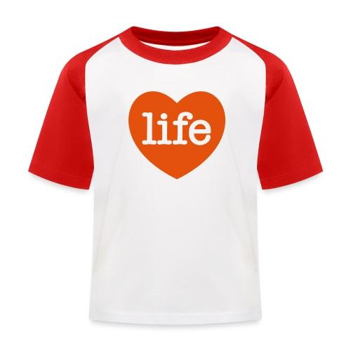 LOVE LIFE heart - Kids' Baseball T-Shirt