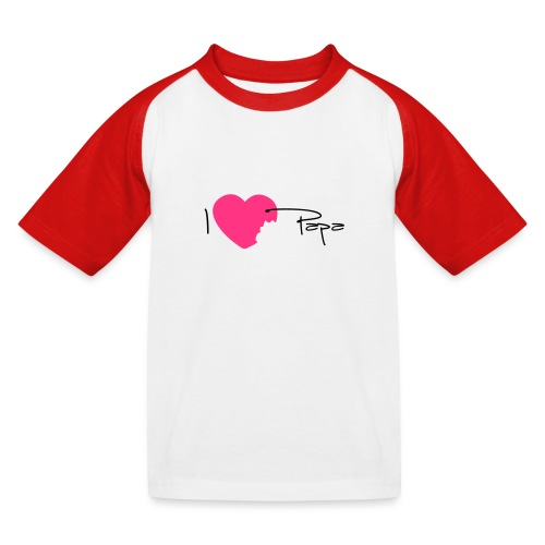 I love Papa 13 Vecto - T-shirt baseball Enfant