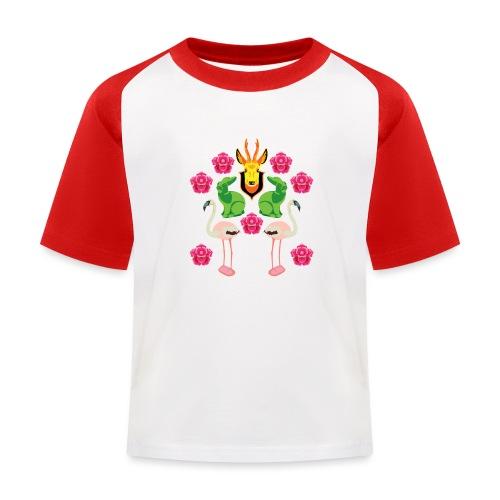 RÅDJUR, KANIN OCH FLAMINGO - Baseboll-T-shirt barn